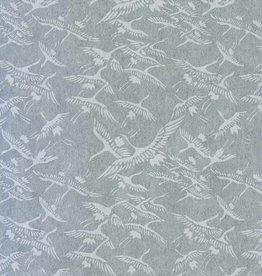 "Japan Japanese Rayon Lace, Cranes, 21"" x 31"""