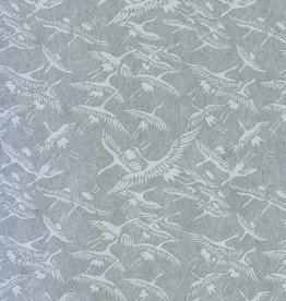 "Japanese Rayon Lace, Cranes, 21"" x 31"""