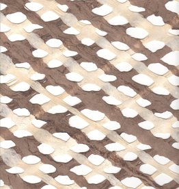 "Amate Lattice Brown/Natural, 15"" x 23"""