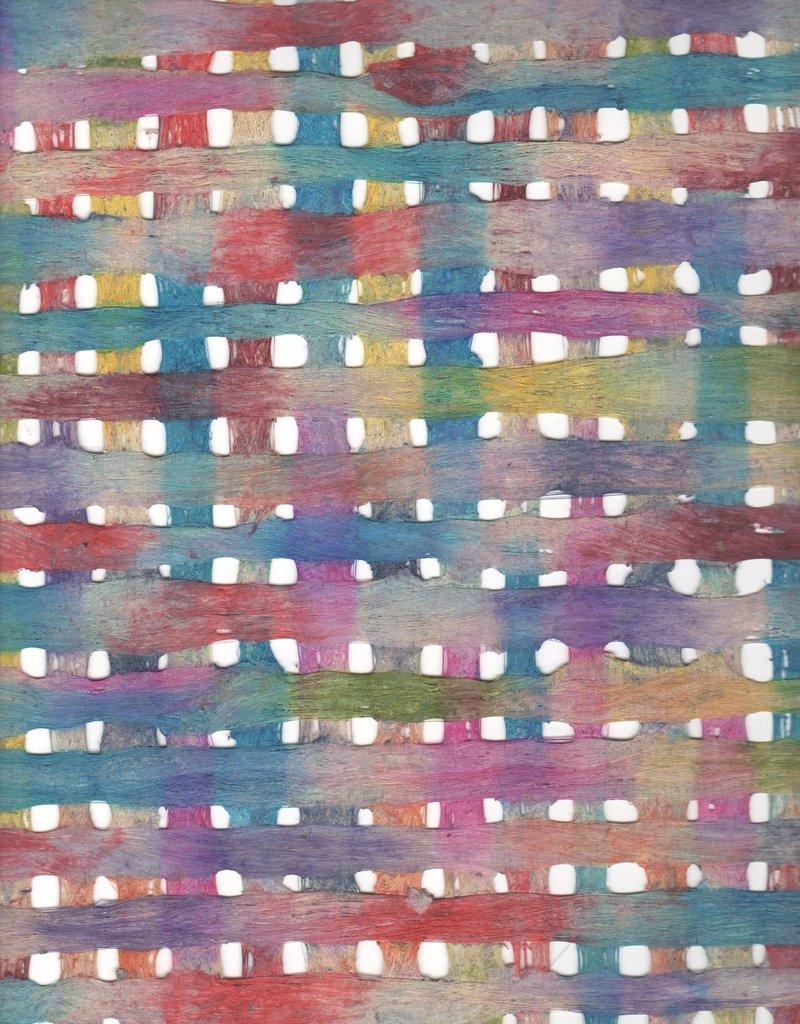 "Amate Weave Rainbow, 15"" x 23"""