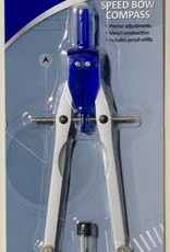 Westcott, Speed Bow Compass, Metal Construction, Includes Pencil Refills