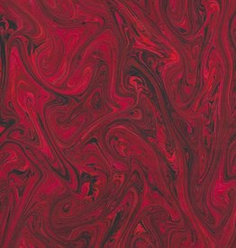 "French Marble #609, Red 19"" x 25"""