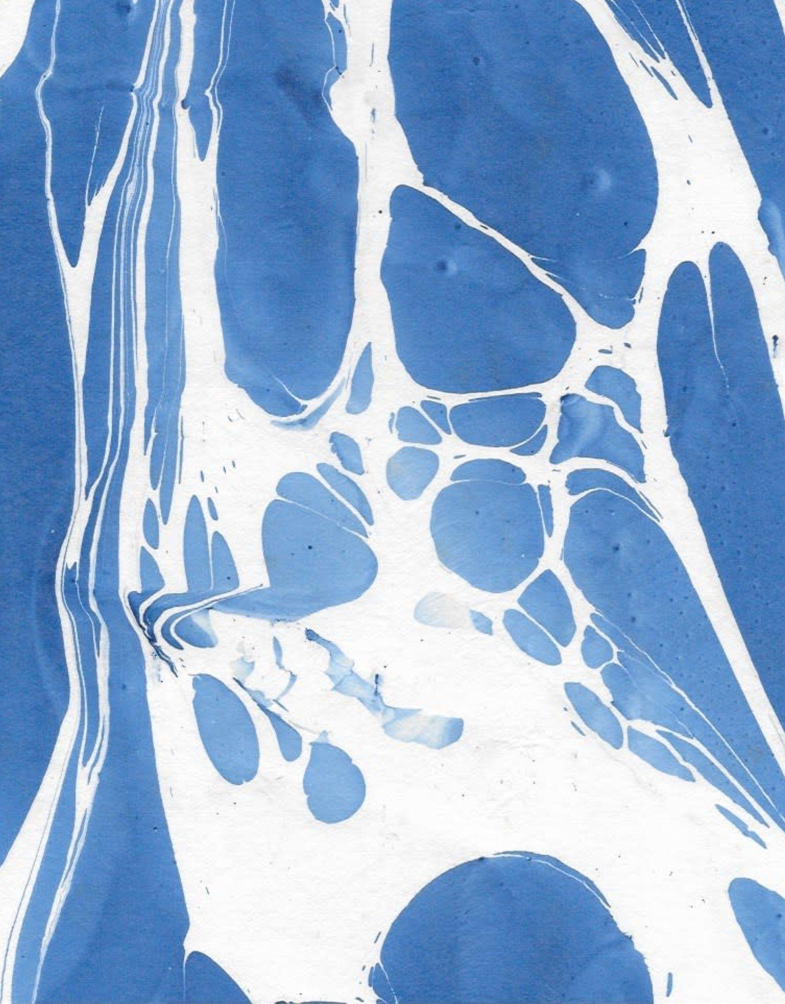 "Indian Marble: Blue on White, Turkish Design, 22"" x 30"""