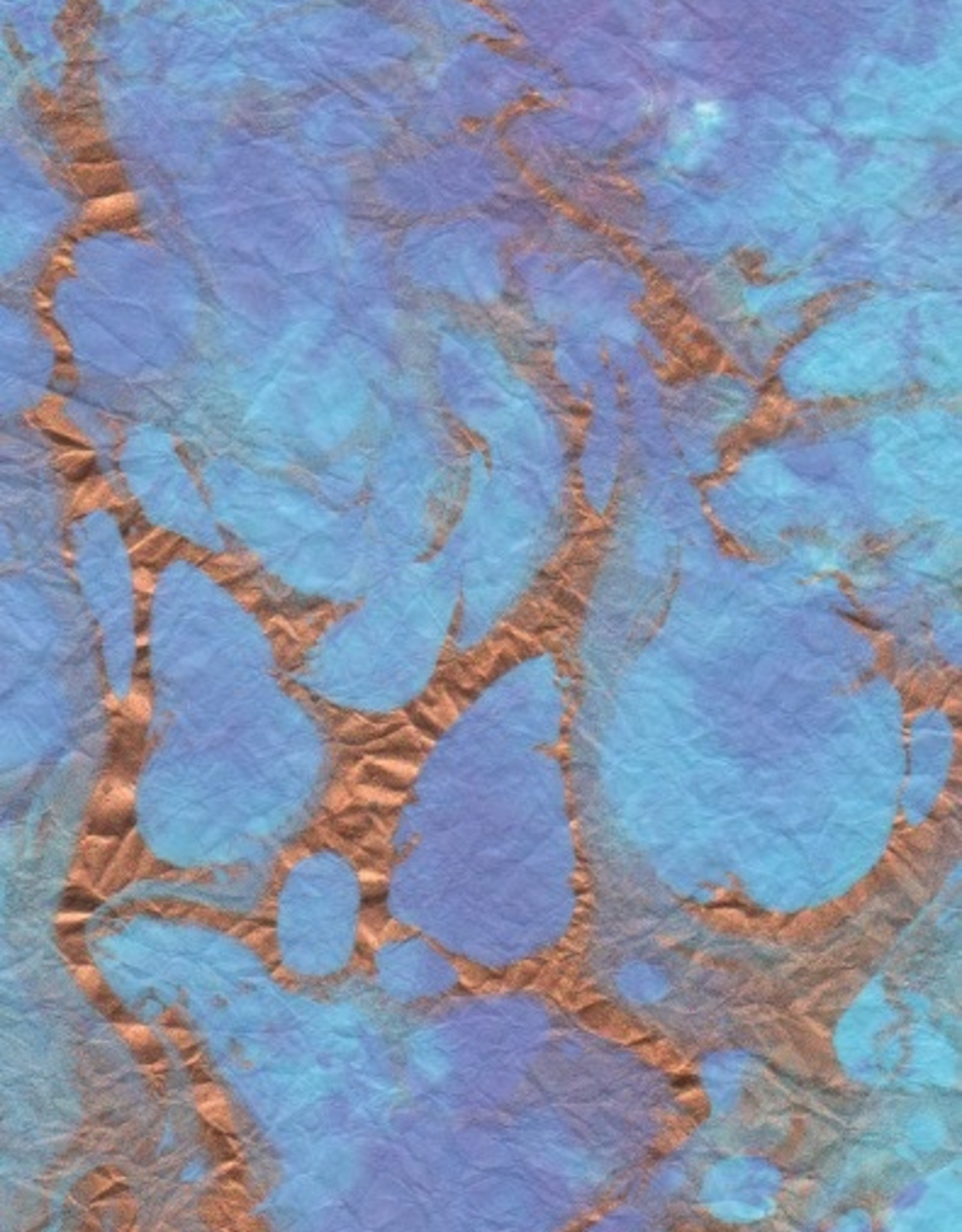 """Momi Marbled Turquoise with Purple, Copper, 25"""" x 36"""", 30 gram"""