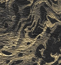 "Momi Marbled Black with Gold, 25"" x 36"", 30 gram"