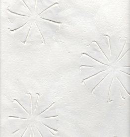 "Thai Embossed Urchins White, 25"" x 37"""