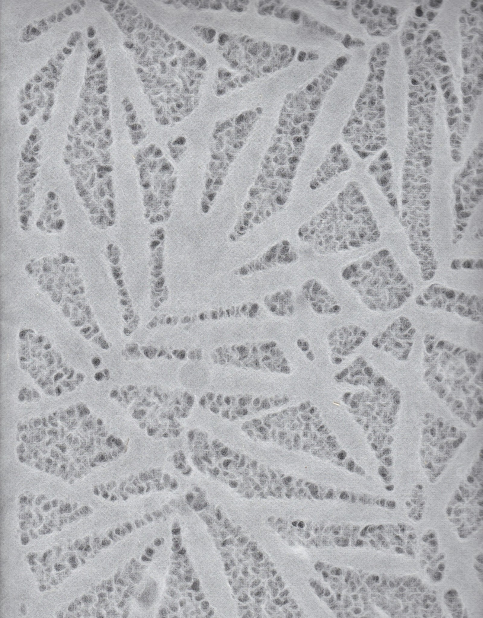 "Thai Lace Bamboo Leaves White, 25"" x 37"""