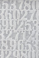 """Thai Lace Numbers White, 22"""" x 30"""""""