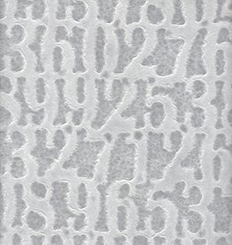 "Thai Lace Numbers White, 22"" x 30"""