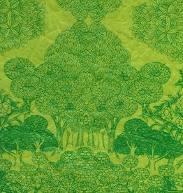 "Jazz Paradise Green, 20"" x 30"""