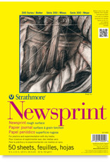 "Strathmore, 300 Series, Newsprint Pad, Rough, 18"" x 24"", 50 Sheets"
