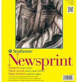 "Domestic Strathmore, 300 Series, Newsprint Pad, Rough, 18"" x 24"", 50 Sheets"