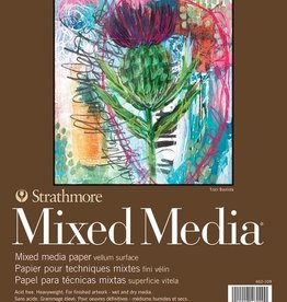 "Domestic Strathmore Mixed Media Pad, 400, 9"" x 12"", 15 Sheets, 184#, 300gsm"