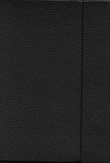 "Black, Faux Leather, Journal with Grid, Dot Grid, and Blank Pages, 192 white pages, 6.25"" x 8.5"", 80gsm, Magnetic Flap"