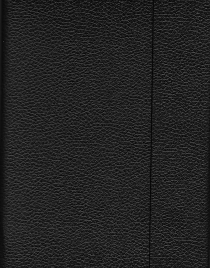 "India Black, Faux Leather, Journal with Grid, Dot Grid, and Blank Pages, 192 white pages, 6.25"" x 8.5"", 80gsm, Magnetic Flap"