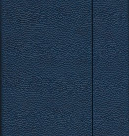 "Dark Blue, Faux Leather, Journal with Dot Grid Pages, 6.25"" x 8.5"", 192 white pages, 80gsm, Magnetic Flap"
