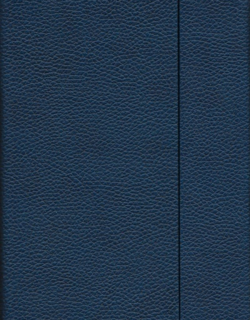 """Dark Blue, Faux Leather, Journal with Dot Grid Pages, 6.25"""" x 8.5"""", 192 white pages, 80gsm, Magnetic Flap"""