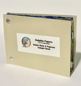 "Dolphin Papers Amate and Papyrus Papers, Sample Book, 3.875"" x 5.875"""