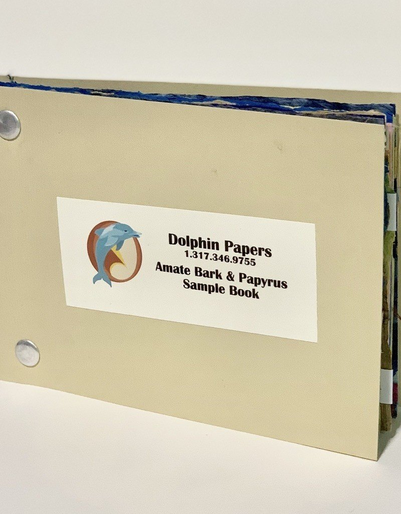 """Dolphin Amate and Papyrus Papers, Sample Book, 3.875"""" x 5.875"""""""