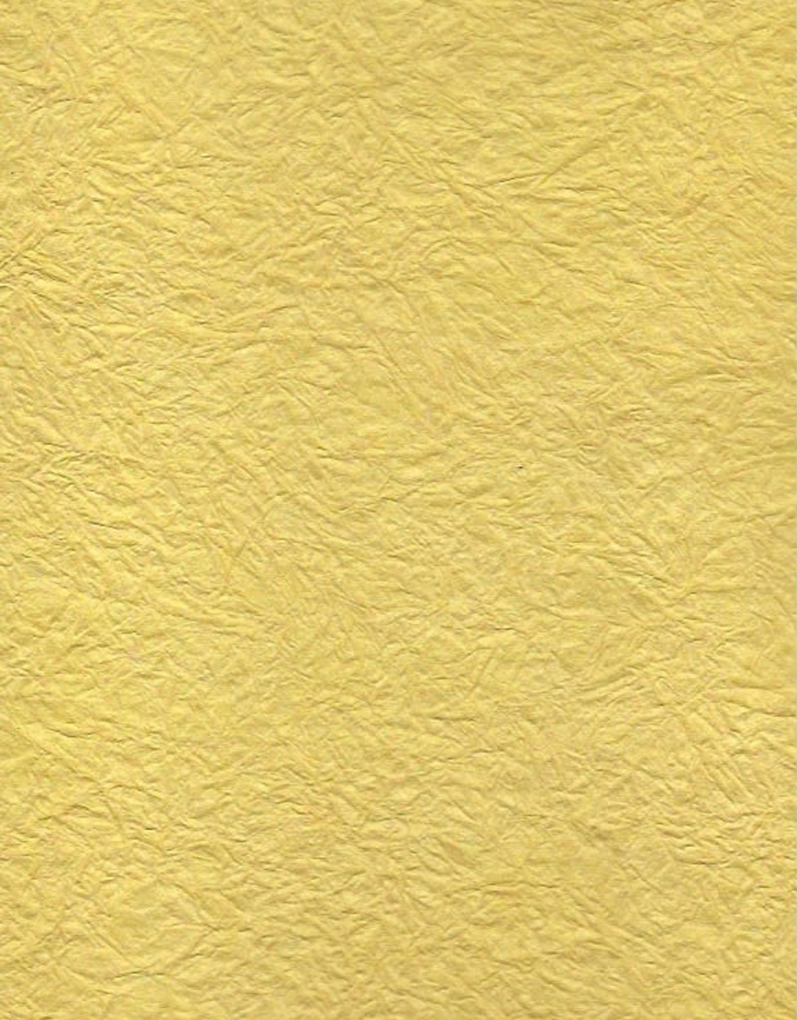 """Hindumomi Crinkle Metallic Yellow, 22"""" x 30""""  200 gsm"""