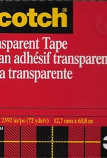 "600 Transparent Tape, Double-Sided, Scotch Brand, 1/2"" x 72yds"