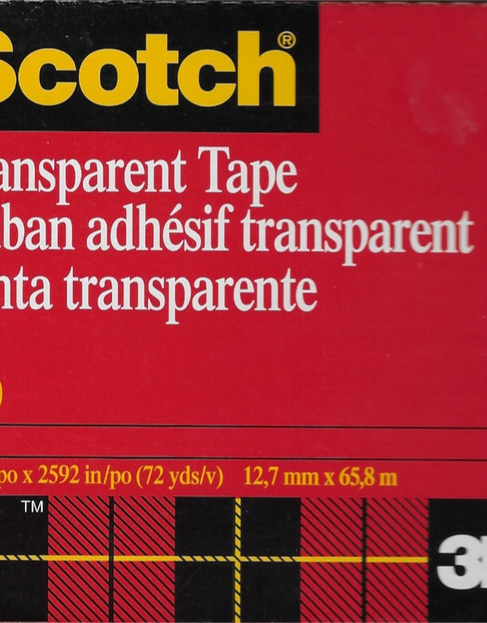 """600 Transparent Tape, Double-Sided, Scotch Brand, 1/2"""" x 72yds"""