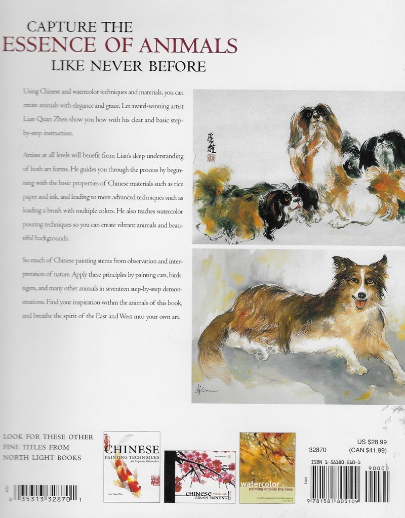 Chinese Watercolor Techniques: Painting Animals, Sale Book