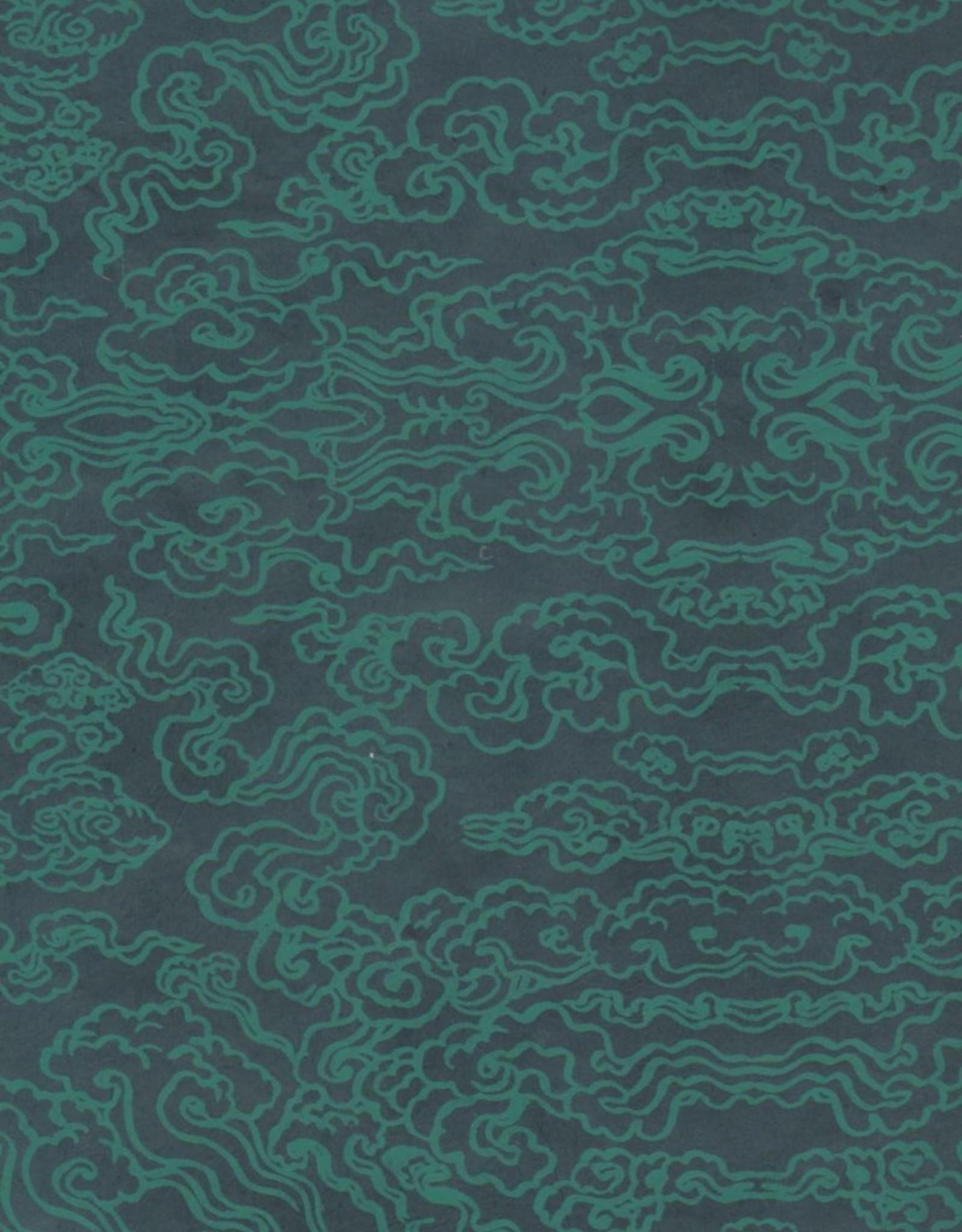 """Tibetan Cloud Forest Green, 20"""" x 30"""""""
