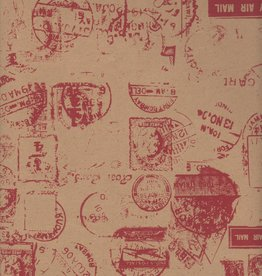 """India Postal Stamp, Red on Kraft, 20"""" x 28"""", 50gsm Limited Availability"""
