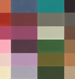 """India Pastel Paper Multi-Color Pack, 8 1/2"""" x 11"""", 25 Sheets of all available colors"""
