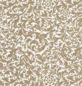 "Thailand Thai Elegance, Gold on White, 25"" x 37"""