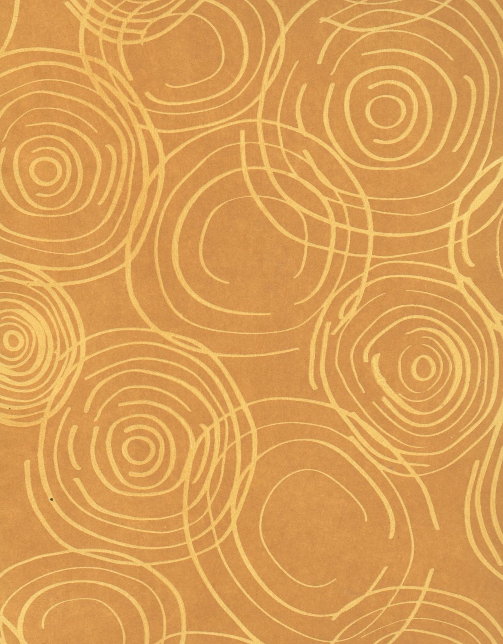 """Thai Water Drop, Golden Brown, 25"""" x 37"""""""