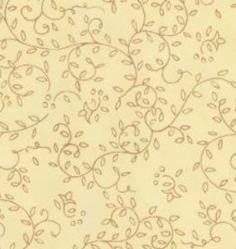 "Thai Screenprint Copper Napa on Cream, 25"" x 37"""