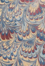 """Indian Marble: Blue, Burgundy, Gold, Comb Design, 22"""" x 30"""""""