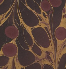 "Indian Marble: Wine, Burgundy with Gold, Turkish Design, 22"" x 30"""