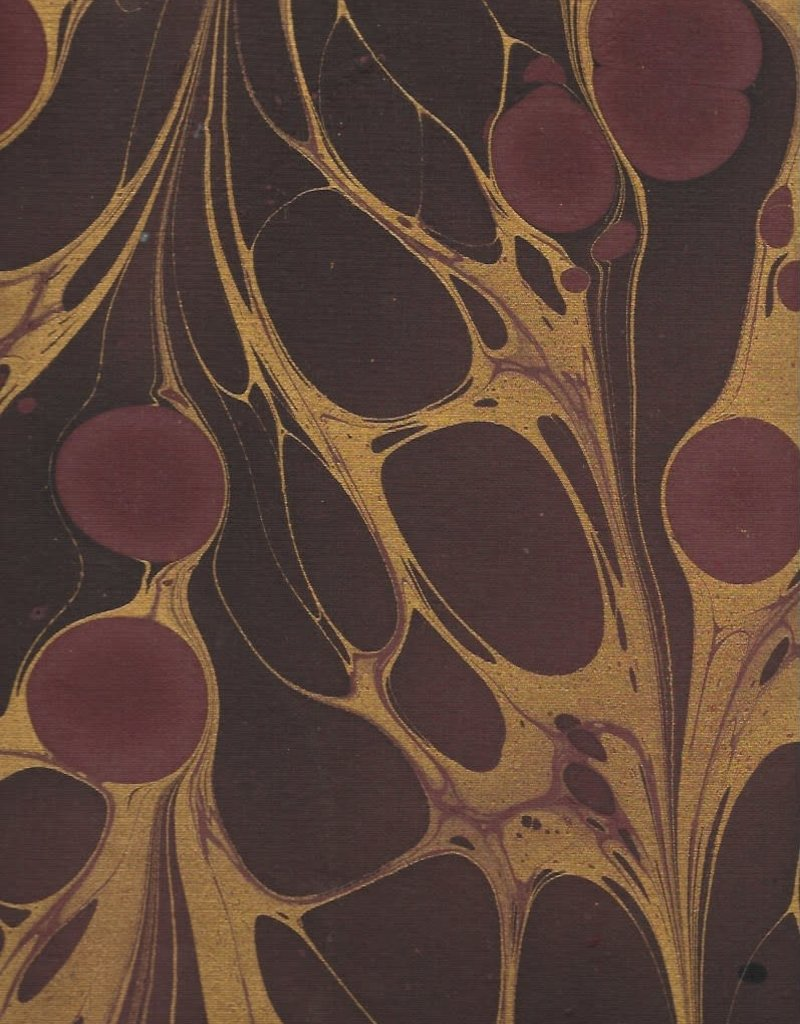 """Indian Marble: Wine, Burgundy with Gold, Turkish Design, 22"""" x 30"""""""
