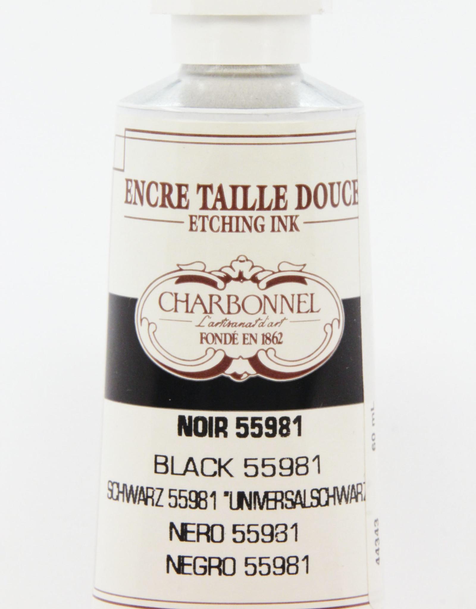 Charbonnel, Etching, Universal Black 55981, Series 2, 60ml, Tube