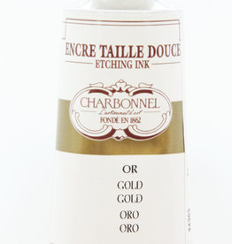 France Charbonnel, Etching Ink, Gold, Series 4, 60ml, Tube