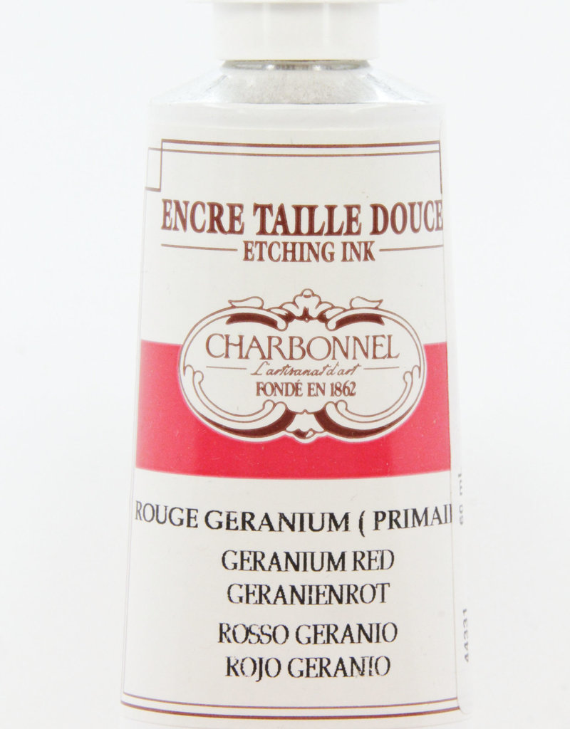Charbonnel, Etching Ink, Geranium Red, Series 4, 60ml, Tube
