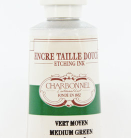 France Charbonnel, Etching Ink, Medium Green, Series 3, 60ml, Tube