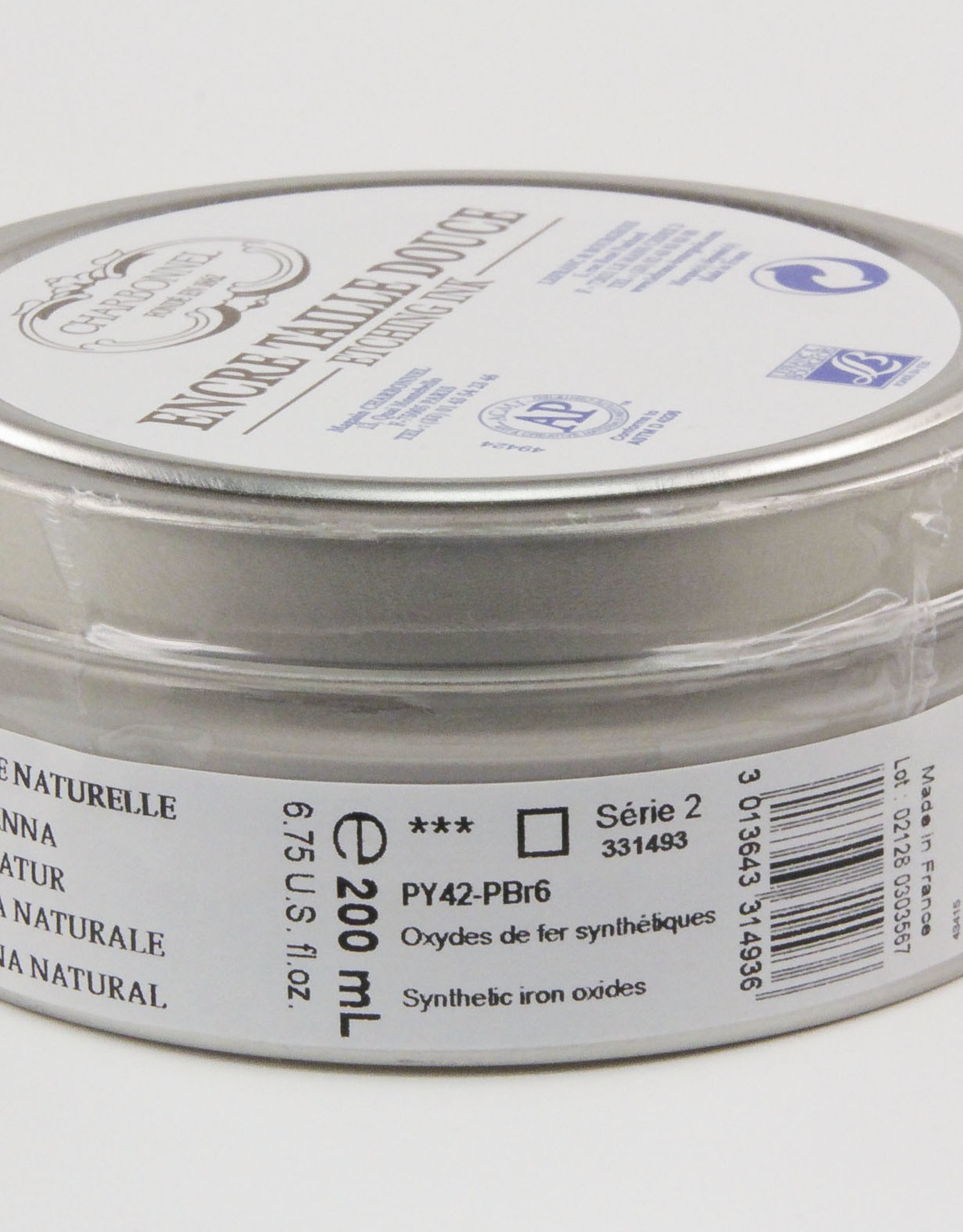 Charbonnel, Etching Ink, Raw Sienna, Series 2, 200ml, Can