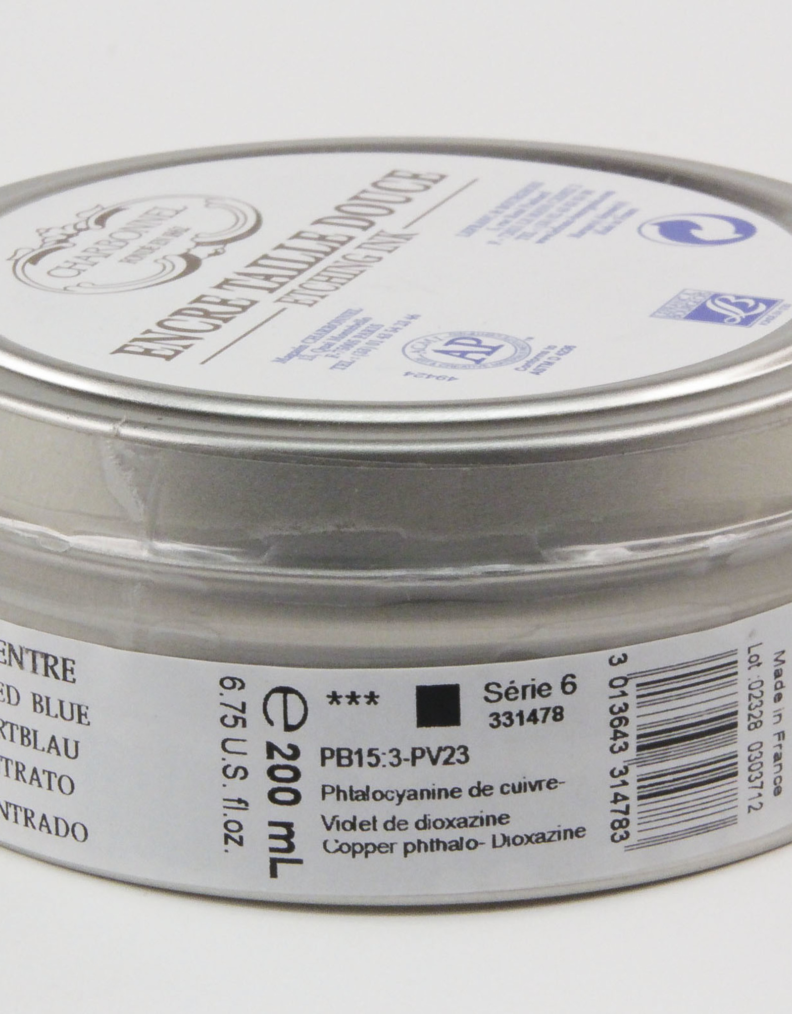 Charbonnel, Etching Ink, Concentrated Blue, Series 6, 200ml, Can