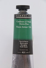 Sennelier, Fine Artists' Oil Paint, Baryte Green, 821, 40ml Tube, Series 2