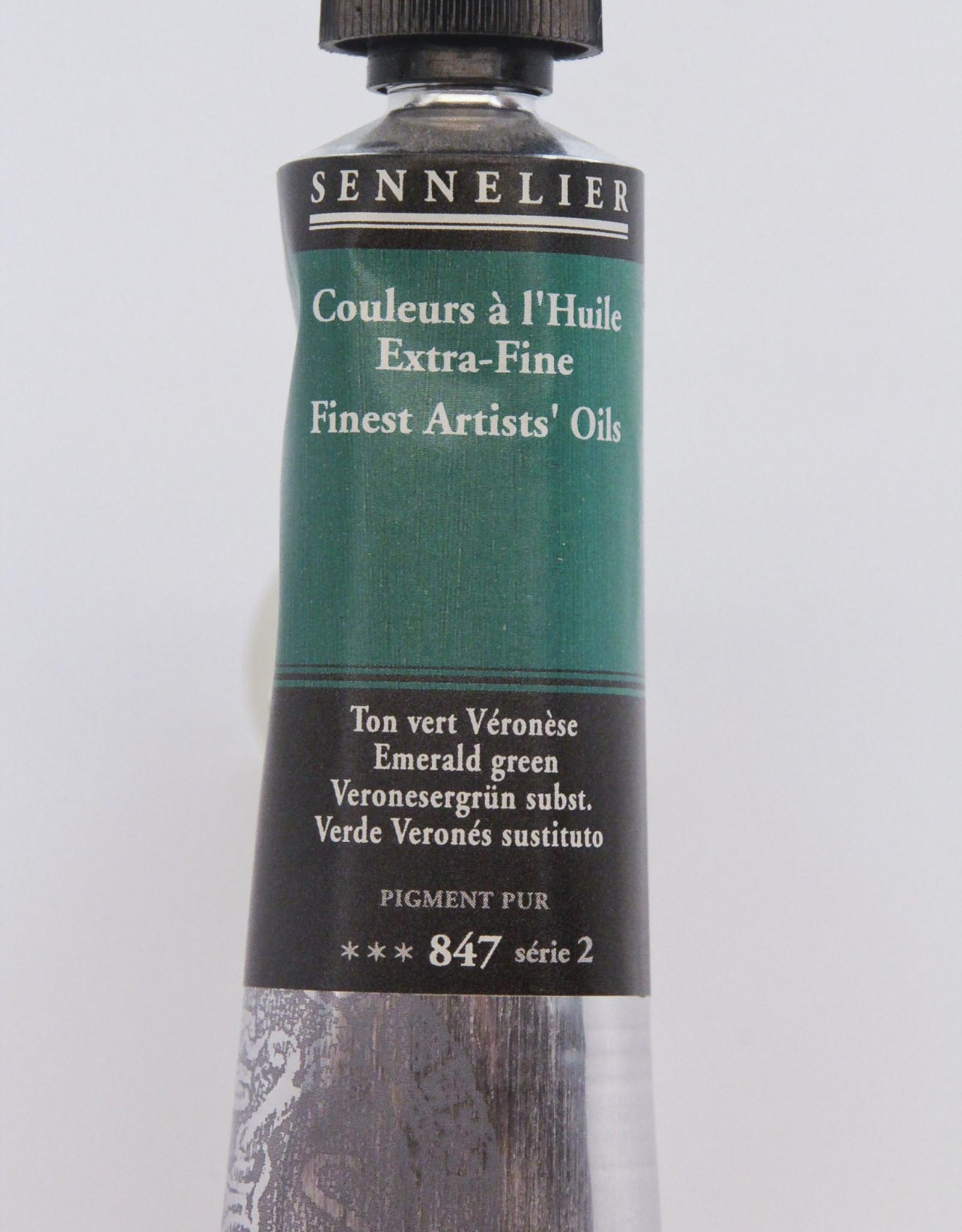 Sennelier, Fine Artists' Oil Paint, Emerald Green, 847, 40ml Tube, Series 2