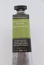 Sennelier, Fine Artists' Oil Paint, Permanent Yellow Green, 849, 40ml Tube, Series 4