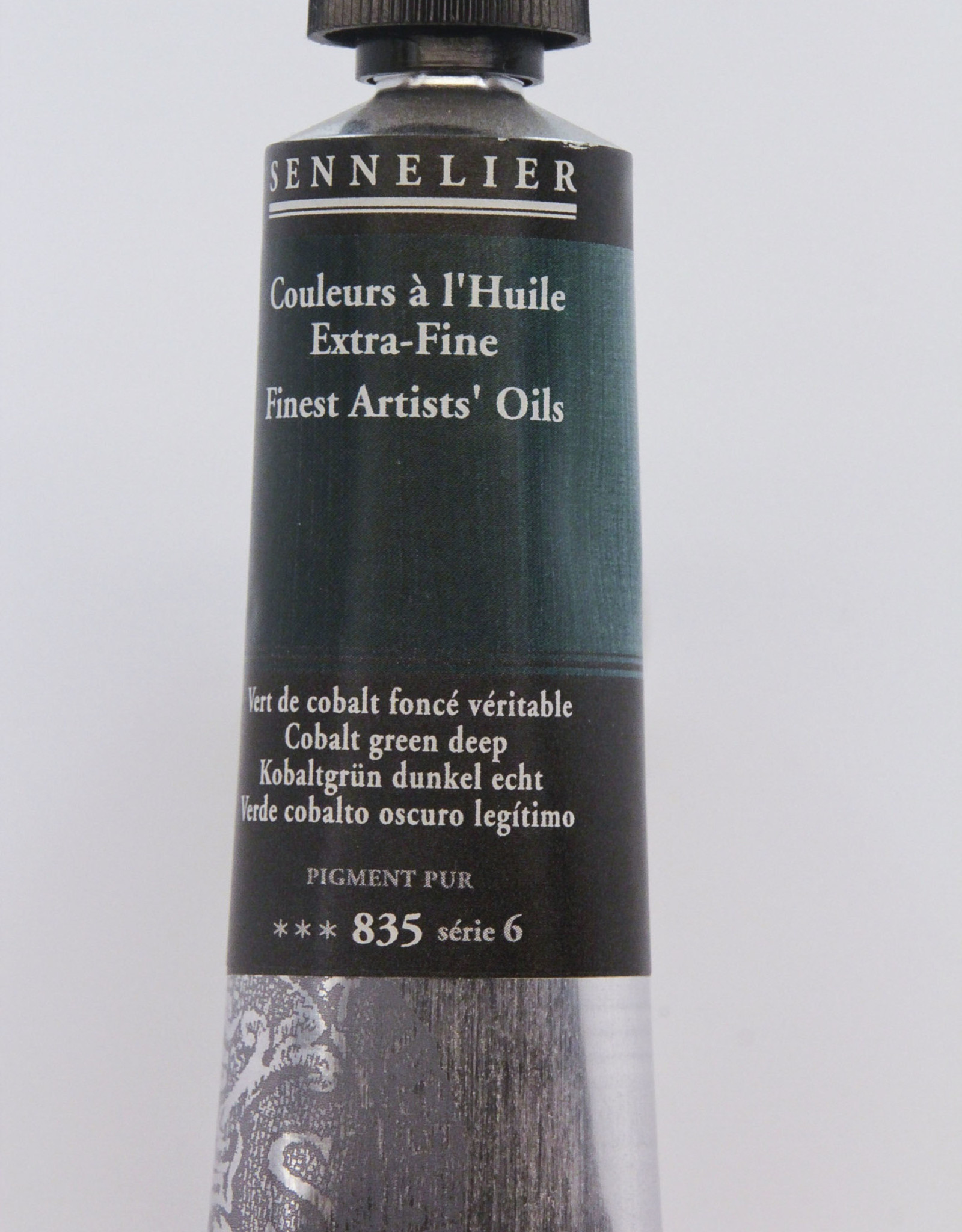 Sennelier, Fine Artists' Oil Paint, Cobalt Green Deep, 835, 40ml Tube, Series 6