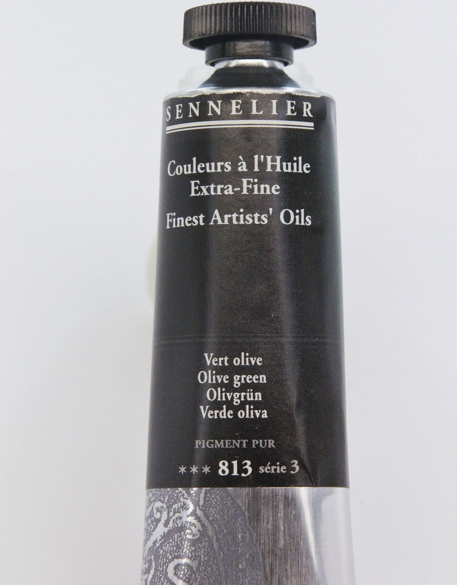 Sennelier, Fine Artists' Oil Paint, Olive Green, 813, 40ml Tube, Series 3