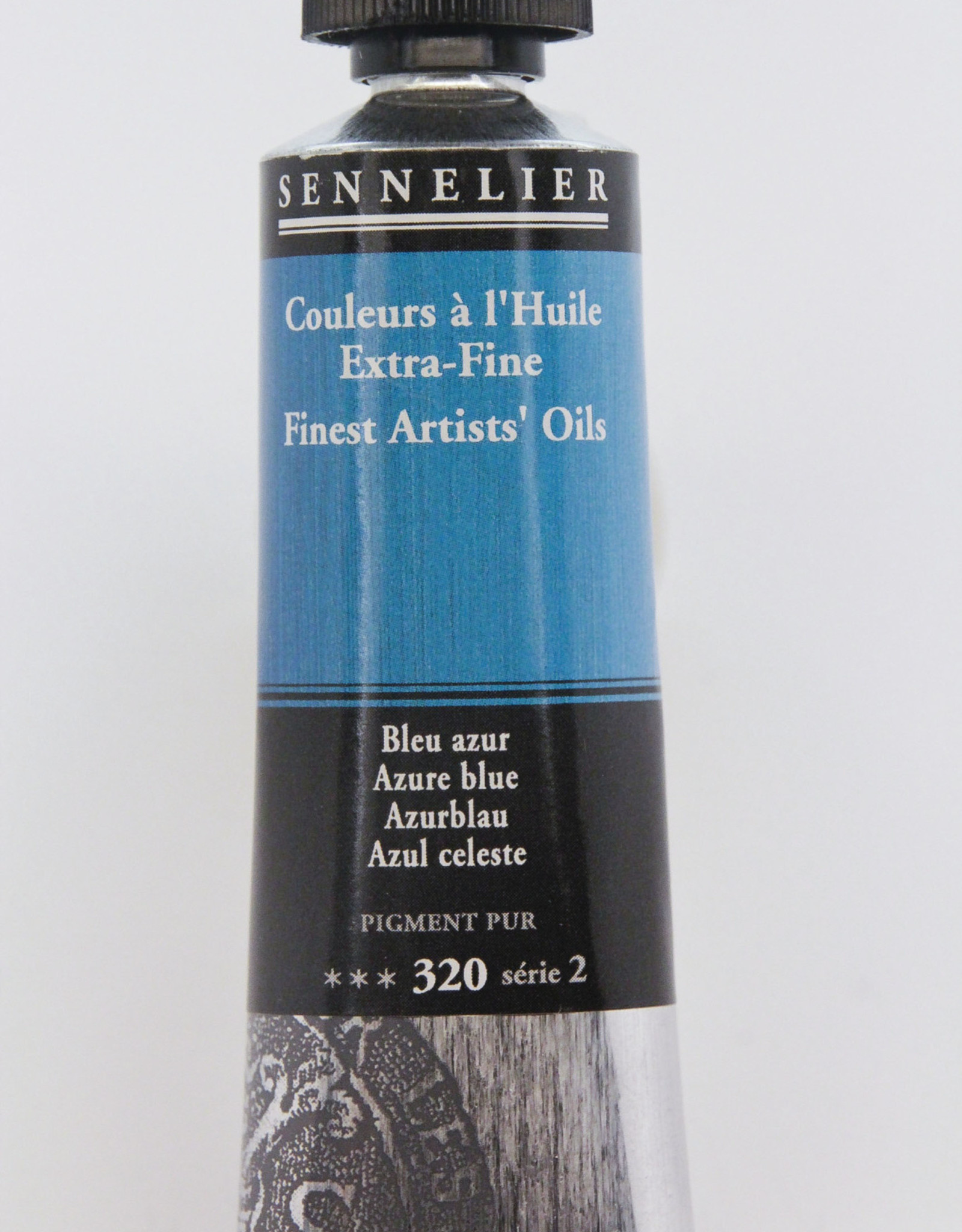Sennelier, Fine Artists' Oil Paint, Azure Blue, 320, 40ml Tube, Series 2