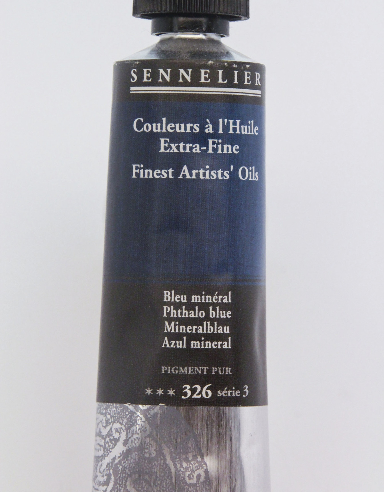 Sennelier, Fine Artists' Oil Paint, Phthalo Blue, 326, 40ml Tube, Series 3