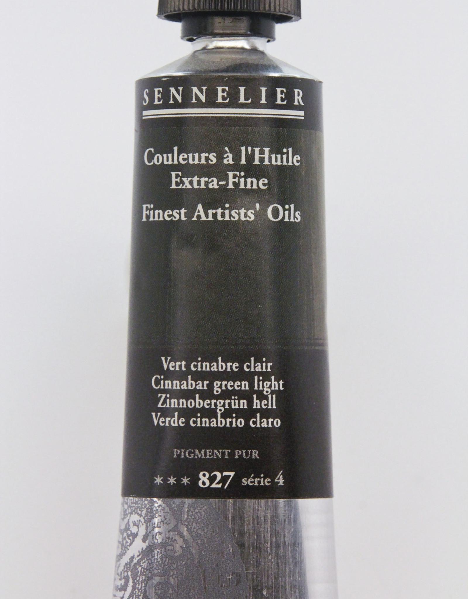 Sennelier, Fine Artists' Oil Paint, Cinnabar Green Light, 827, 40ml Tube, Series 4